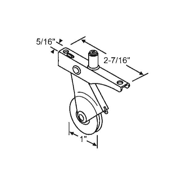 Ritescreen Screen Door Roller 10 410