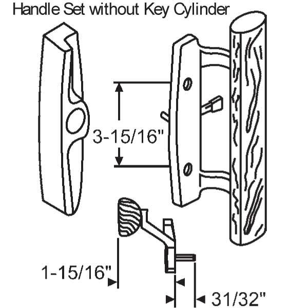 sash controls - - handles patio doors
