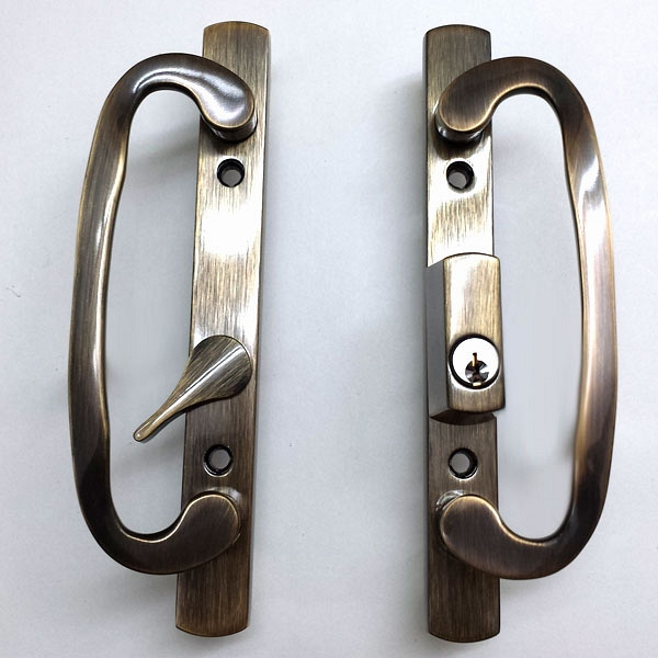 2265 Sash Controls Handle 13-245ABK Antique Brass w Keys