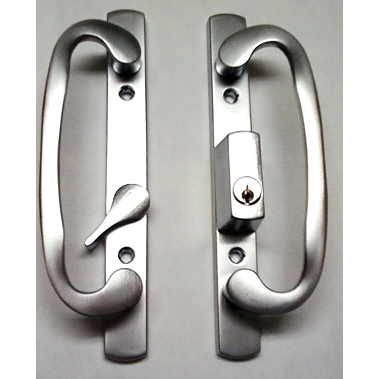 2265 Sash Controls Handle13-245BCK Brushed Chrome Keyed