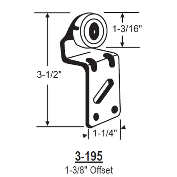 Door Bi-Pass Hanger 3-195