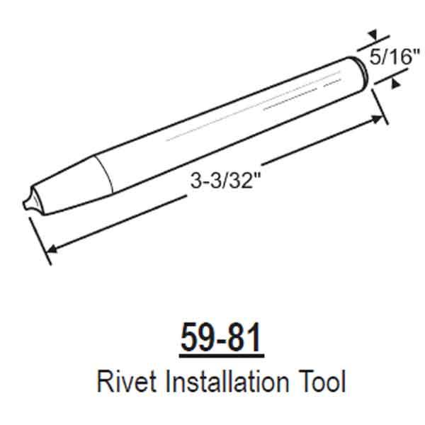 in house - - rivet installation tool 59-81