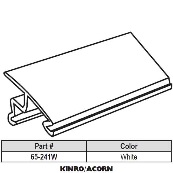Acorn Snap In Vinyl Glazing Bead 65 241w 65 241w
