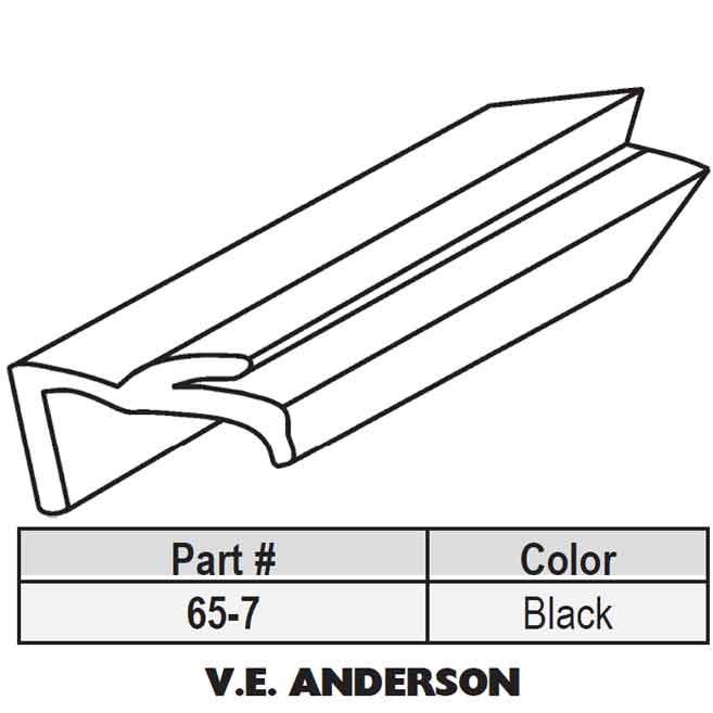 Andersen Snap In Vinyl Glazing Bead 65 7 65 7