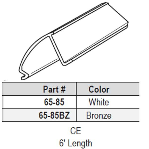 Strybuc Snap In Vinyl Glazing Bead 65 456w