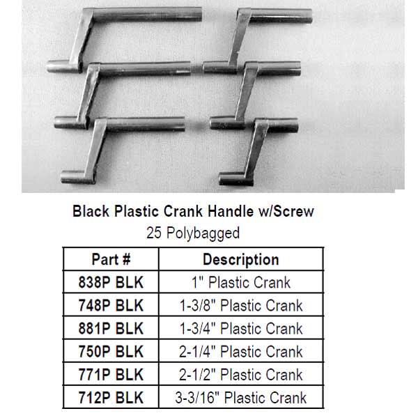 Black Plastic Crank Handle 771P BLK
