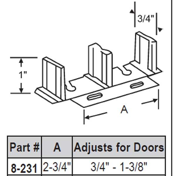Door Floor Guide 8-231