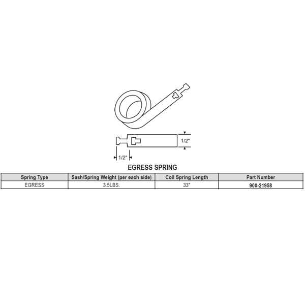 Strybuc Omega Constant Force Egress Spring Balance 900