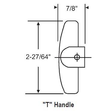 Pella 3 8 Inch Pella T Handle Copper 37 124 37 124