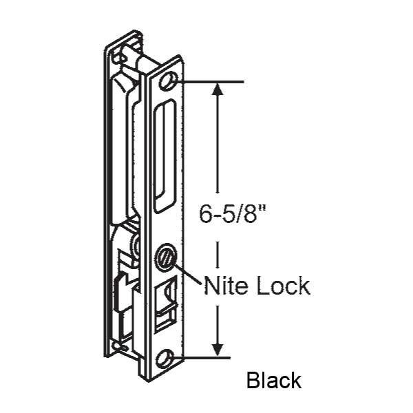 Patio Door Track Hardware: - Handles Patio Doors 13-140BK