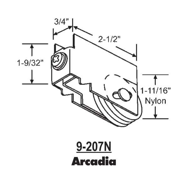 Arcadia Patio Door Roller 9 207n