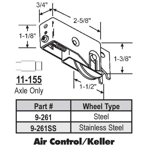 Air Control Keller Patio Door Roller 9 261