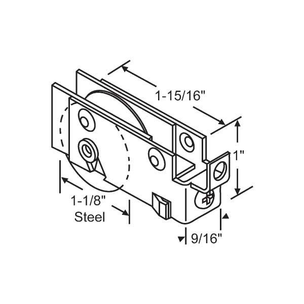 Strybuc Patio Door Roller 9 324