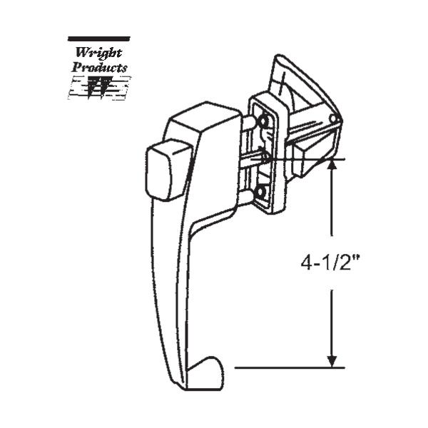 Wright Products Push Button Latch 17 58b 17 58b