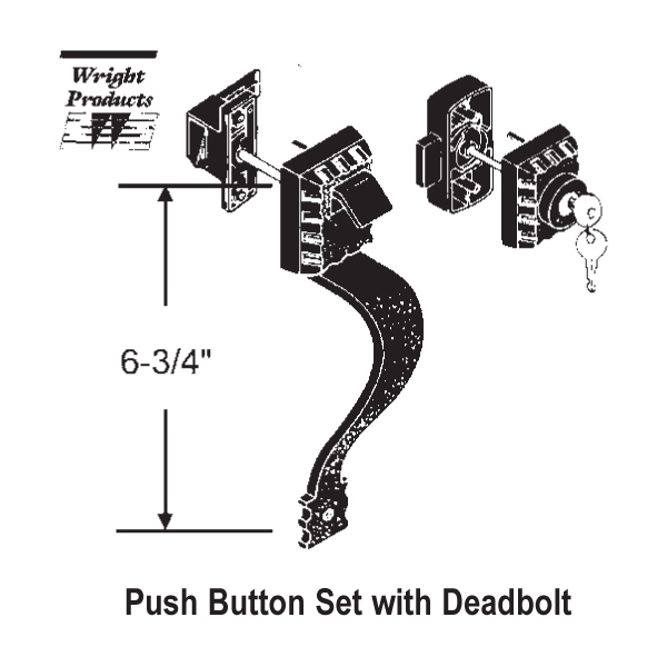 Wright Products Push Button Latch 900 13554k