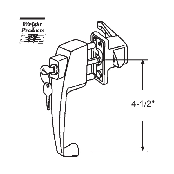 Wright Products Push Button Latch 900 7339kbl 900