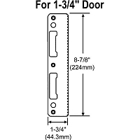 Hoppe 1 3-4 inch Door Latch & Deadbolt Strike