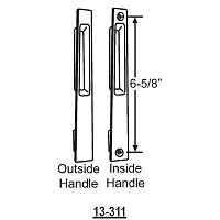 Flush Mount Handle Patio Doors 13-311B