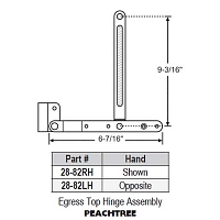 Egress Top Hinge Assembly 28-82LH