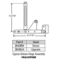 Egress Bottom Hinge Assembly 28-83LH