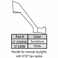 Skylight Operator Crank Handle 37-235SND