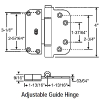 Adjustable Guide Hinge 56-223SNK