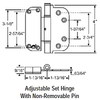 Adjustable Set Hinge 56-224SNK