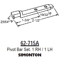 Pivot Bar Set 62-715A