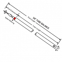Red Bearing Standard Rod 24 Inch Balance 76-SMS26R