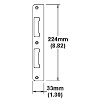 Stainless Steel Latch and Deadbolt Strike 2342311