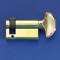 Hoppe Half Cylinders 90 degree with Crescent Knob 8751831