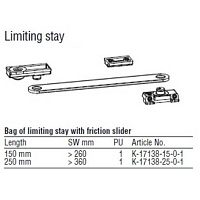 Limiting Stay 250mm 854-16674