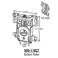 Closet Door Roller Assembly 900-11827