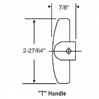 9-32 T Handle With Set Screw 37-123