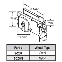 Patio Door Roller 9-200N