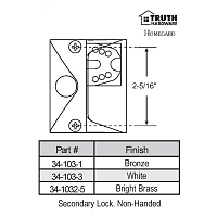 Casement Handle 34-103-3