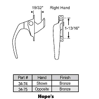 Casement Handle 34-75