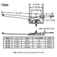 Sill Mounted Casement Operator 36-336