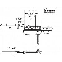 Sill Mounted Casement Operator 36-372-1