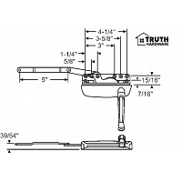 Sill Mounted Casement Operator 36-374-3