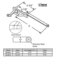 Rear Mount Casement Operator 36-445-3