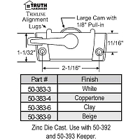 Sweep and Sash lock 50-383-4