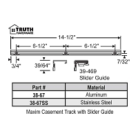 Window door parts - Casement and Awning Tracks