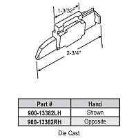 Storm Window Latch 900-13382LH
