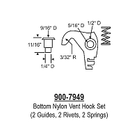 Bottom Nylon Vent Hook 900-7949
