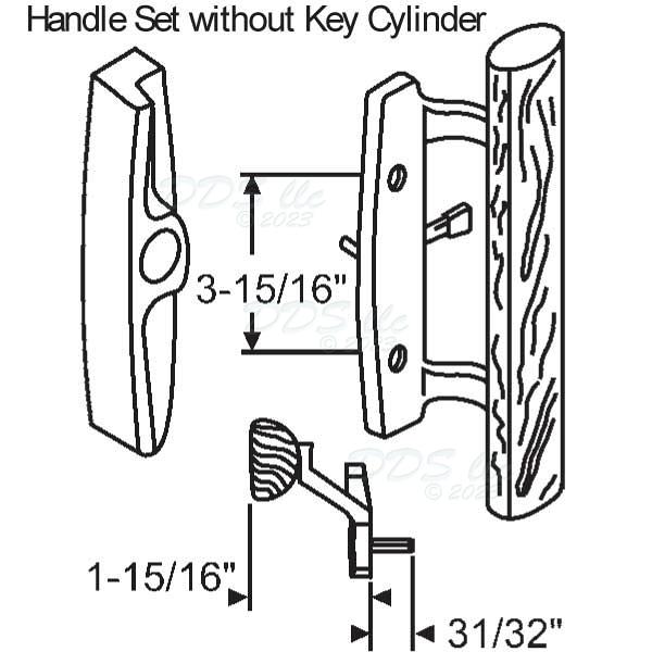 Sash Controls Handles Patio Doors 13 154w 13 154w