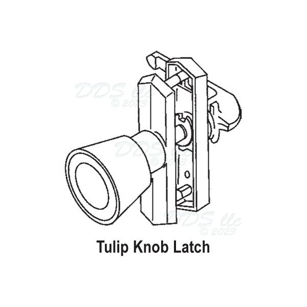 Knob-Push Pull Latch 17-51