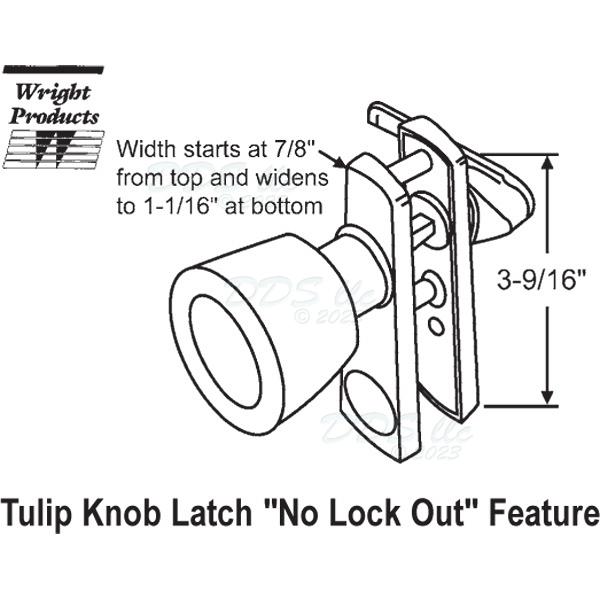 Wright Products Knob Push Pull Latch 17 61 17 61