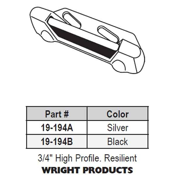 Wright Products High Profile Strike Color Black 19