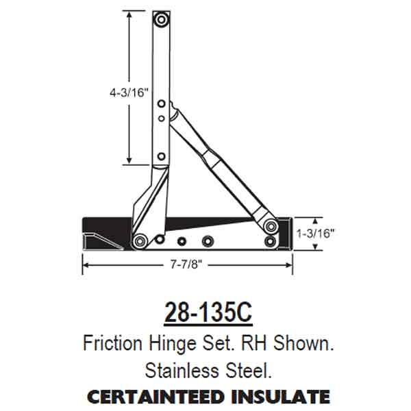 Friction Hinge Set 28-135C 1